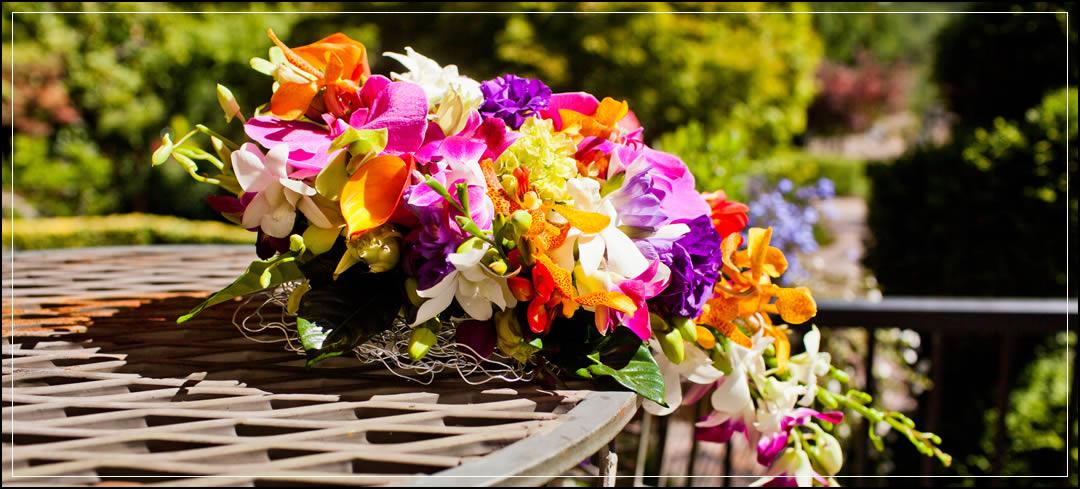 Wedding Flowers / Rock Creek Gardens Venue / Makana & Linh