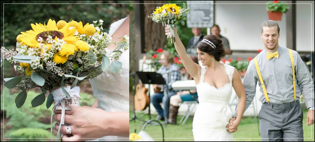 Wedding Flowers / Swiss Sportsman Club Park / Neil & Kate