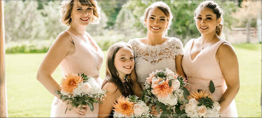 Wedding Flowers / Brown Family Homestead / Justin & Paulette in Leavenworth